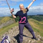 Image of Anna at the top of Thorpe Cloud