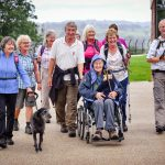 Resident Maureen with members of Uttoxeter Walking Club