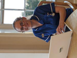 Lucy Salt, a nurse at Barrowhill Hall